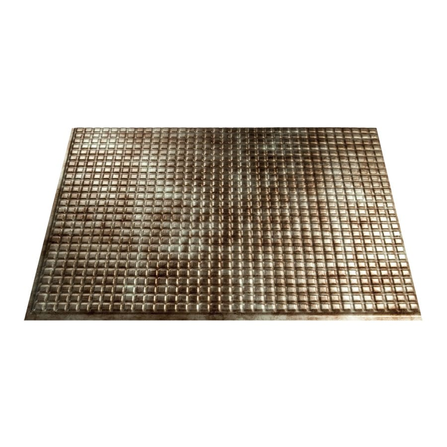 Fasade 18.5-in x 24.5-in Bermuda Bronze Thermoplastic Multipurpose Backsplash