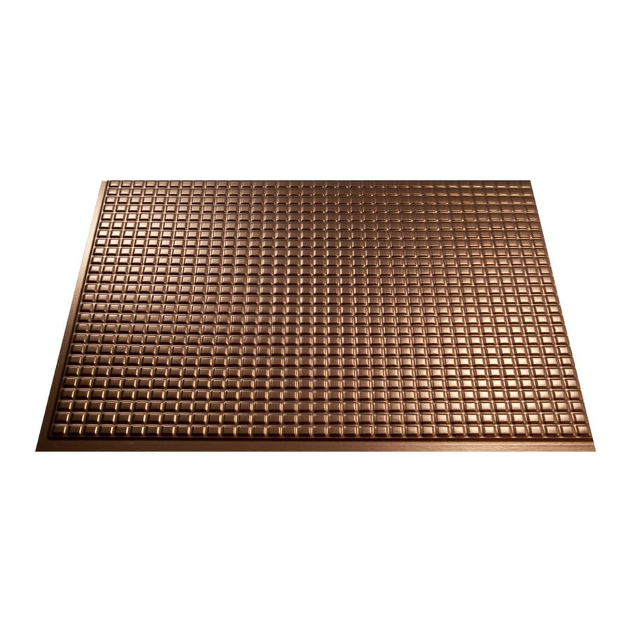 Fasade 18.5-in x 24.5-in Oil Rubbed Bronze Thermoplastic Multipurpose Backsplash
