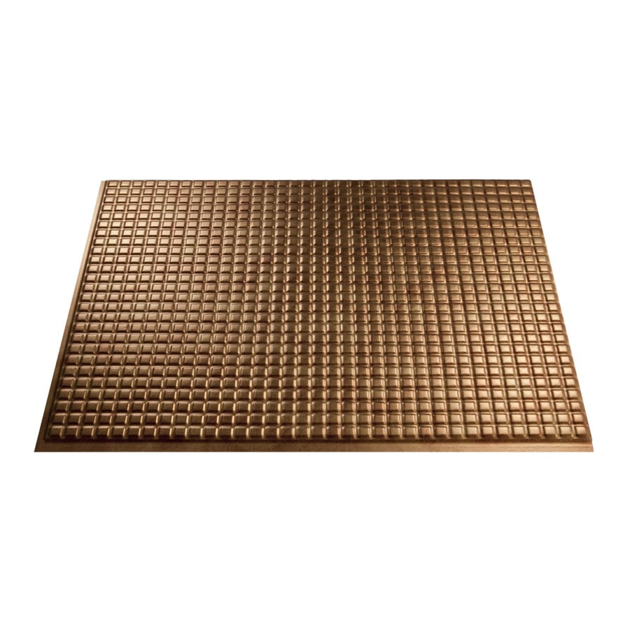 Fasade 18.5-in x 24.5-in Antique Bronze Thermoplastic Multipurpose Backsplash