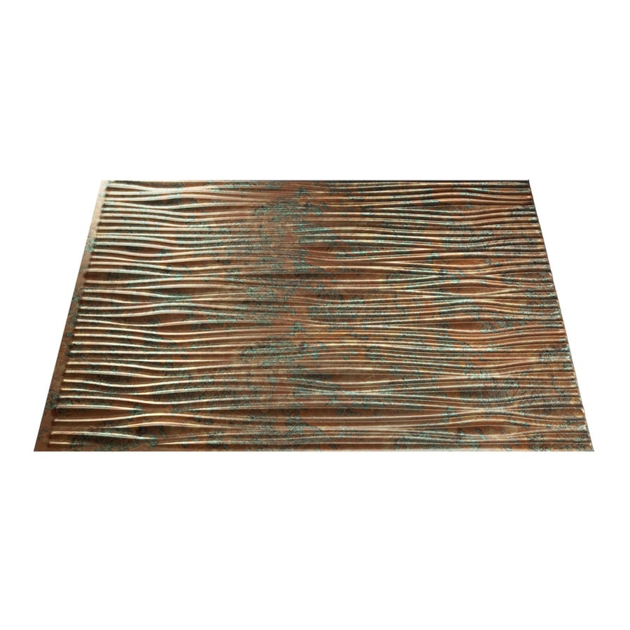 Fasade Waves 18 5 In X 24 5 In Copper Fantasy Backsplash