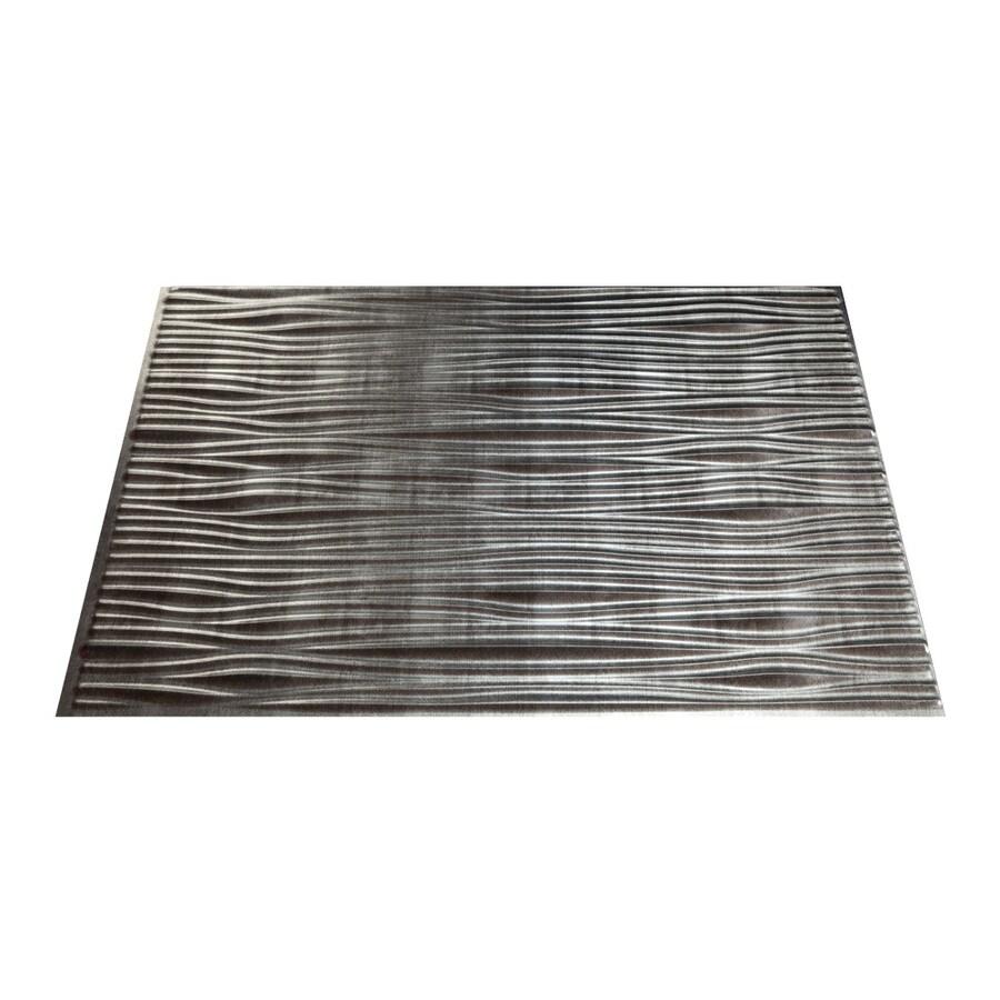 shop fasade 18 5 in x 24 5 in cross hatch silver