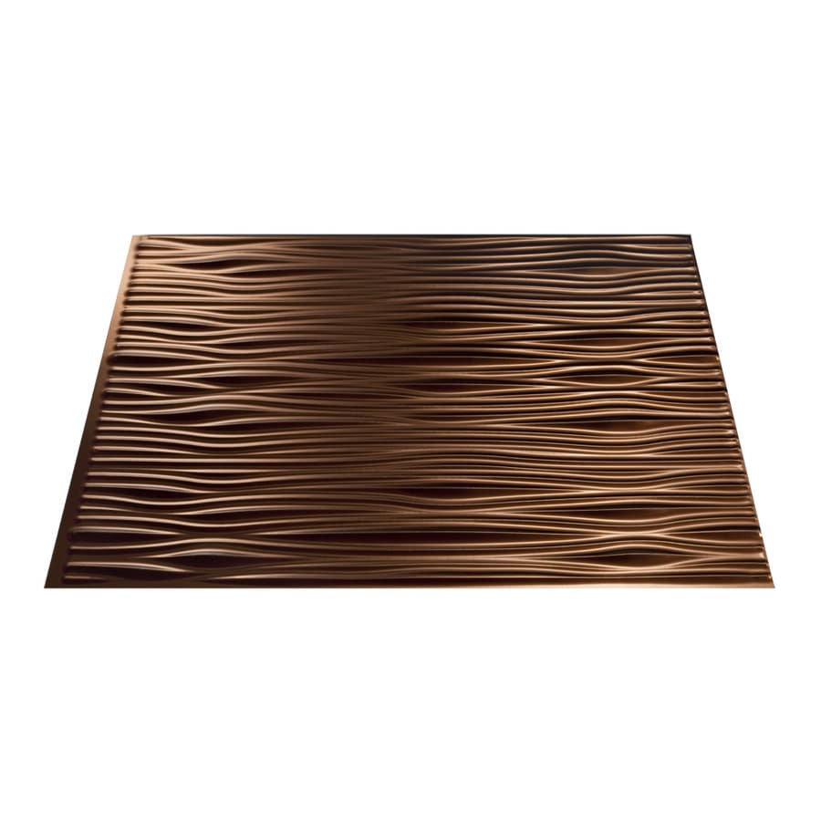 Fasade 18.5-in x 24.5-in Oil-Rubbed Bronze Thermoplastic Backsplash