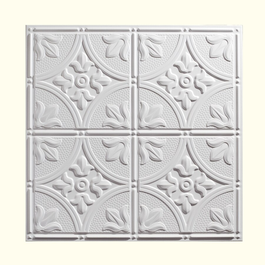 Genesis White Patterned 15/16-in Drop Ceiling Tiles (Common: 24-in x 24-in; Actual: 23.75-in x 23.75-in)
