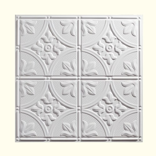 Genesis 24 In X 24 In Antique White Patterned 15 16 In Drop Ceiling Tiles In The Ceiling Tiles Department At Lowes Com