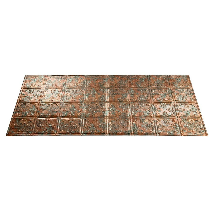 Fasade Copper Fantasy Faux Tin Surface-Mount Ceiling Tiles (Common: 48-in x 24-in; Actual: 48.375-in x 24.375-in)