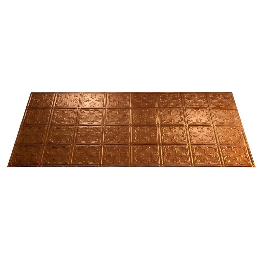 Fasade Antique Bronze Faux Tin Surface-Mount Ceiling Tiles (Common: 48-in x 24-in; Actual: 48.375-in x 24.375-in)