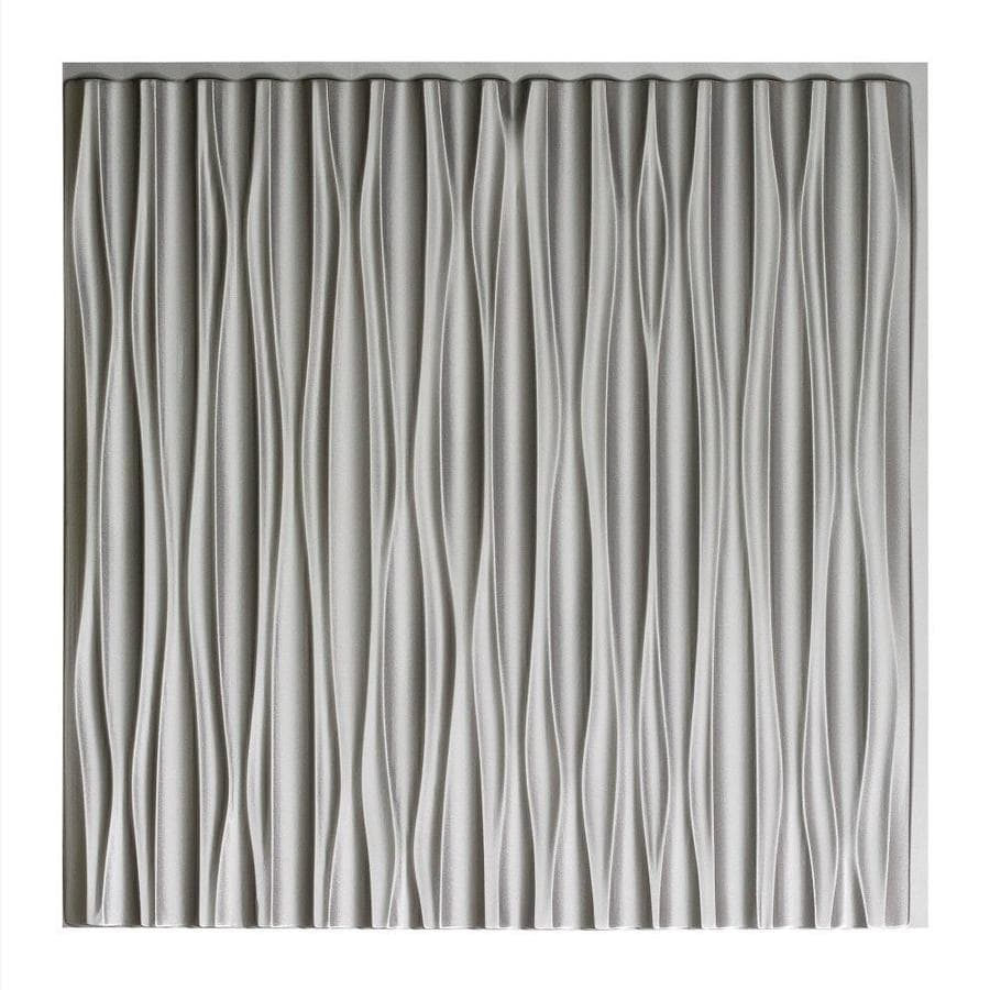 Fasade Argent Silver Faux Tin Surface-Mount Ceiling Tiles (Common: 24-in x 24-in; Actual: 23-in x 23-in)