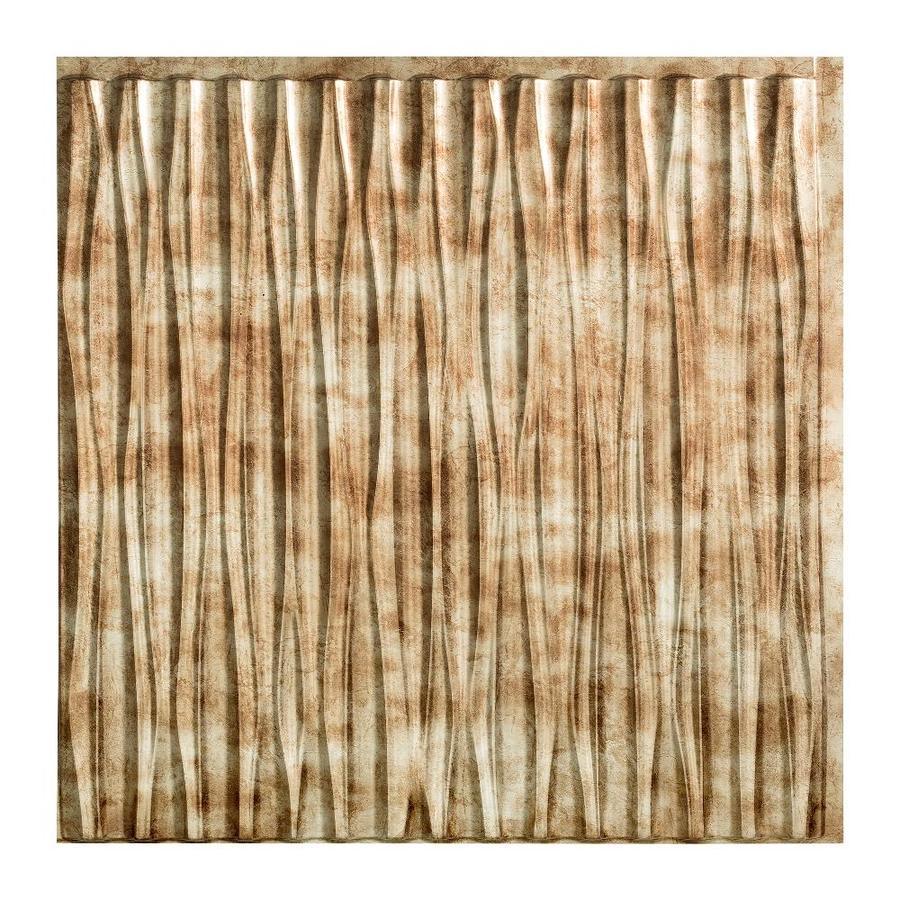 Fasade Bermuda Bronze Faux Tin Surface-Mount Ceiling Tiles (Common: 24-in x 24-in; Actual: 23-in x 23-in)