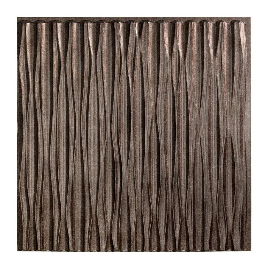 Fasade Smoked Pewter Faux Tin Surface-Mount Ceiling Tiles (Common: 24-in x 24-in; Actual: 23-in x 23-in)