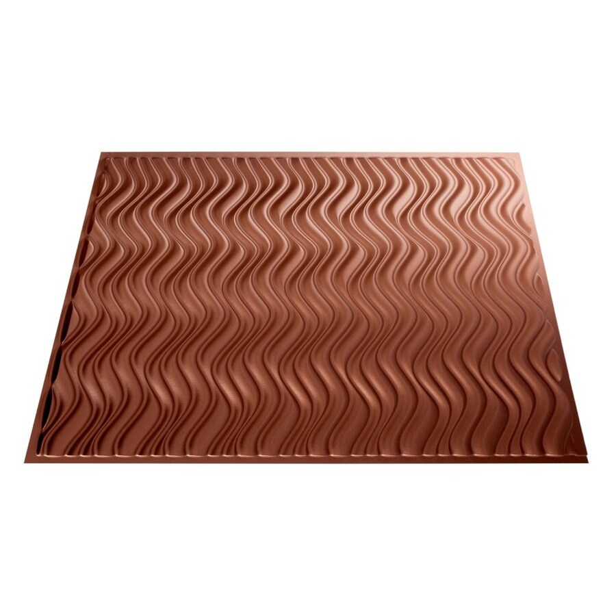 Fasade Argent Copper Faux Tin Surface-Mount Ceiling Tiles (Common: 24-in x 24-in; Actual: 23.25-in x 23.25-in)