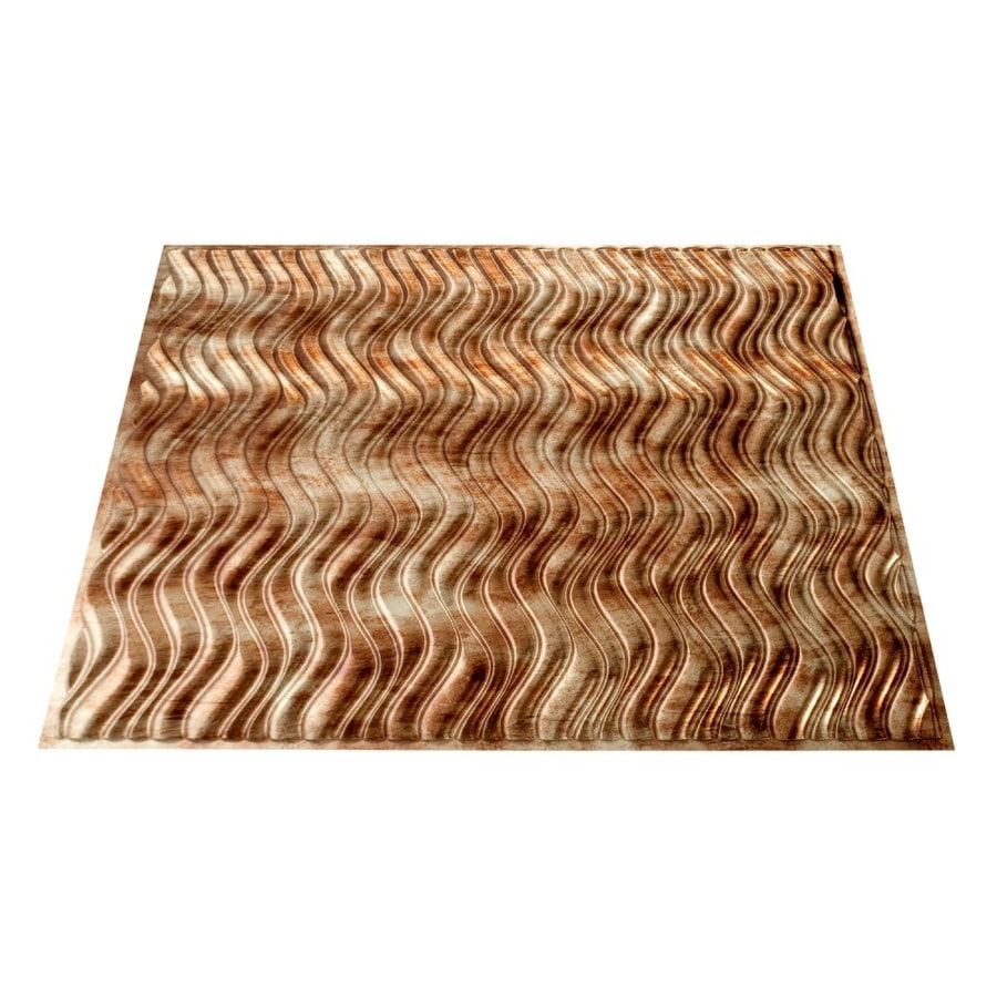 Fasade Bermuda Bronze Faux Tin Surface-Mount Ceiling Tiles (Common: 24-in x 24-in; Actual: 23.25-in x 23.25-in)