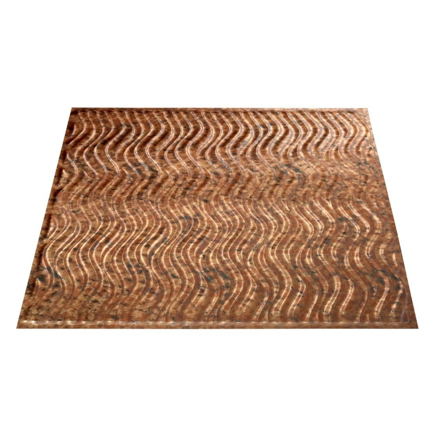 Fasade Cracked Copper Faux Tin Surface-Mount Ceiling Tiles (Common: 24-in x 24-in; Actual: 23.25-in x 23.25-in)