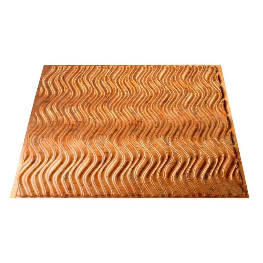 Fasade Muted Gold Faux Tin Surface-Mount Ceiling Tiles (Common: 24-in x 24-in; Actual: 23.25-in x 23.25-in)