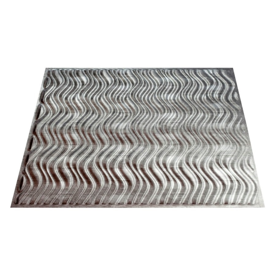 Fasade Crosshatch Silver Faux Tin Surface-Mount Ceiling Tiles (Common: 24-in x 24-in; Actual: 23.25-in x 23.25-in)