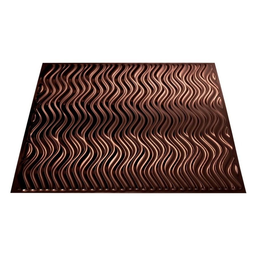 Fasade Oil-Rubbed Bronze Faux Tin Surface-Mount Ceiling Tiles (Common: 24-in x 24-in; Actual: 23.25-in x 23.25-in)