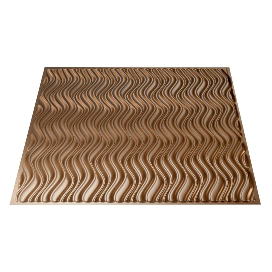 Fasade Argent Bronze Faux Tin Surface-Mount Ceiling Tiles (Common: 24-in x 24-in; Actual: 23.25-in x 23.25-in)