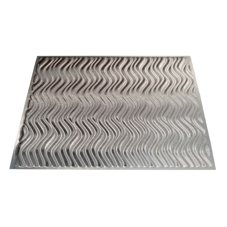 Fasade Galvanized Steel Faux Tin Surface-Mount Ceiling Tiles (Common: 24-in x 24-in; Actual: 23.25-in x 23.25-in)