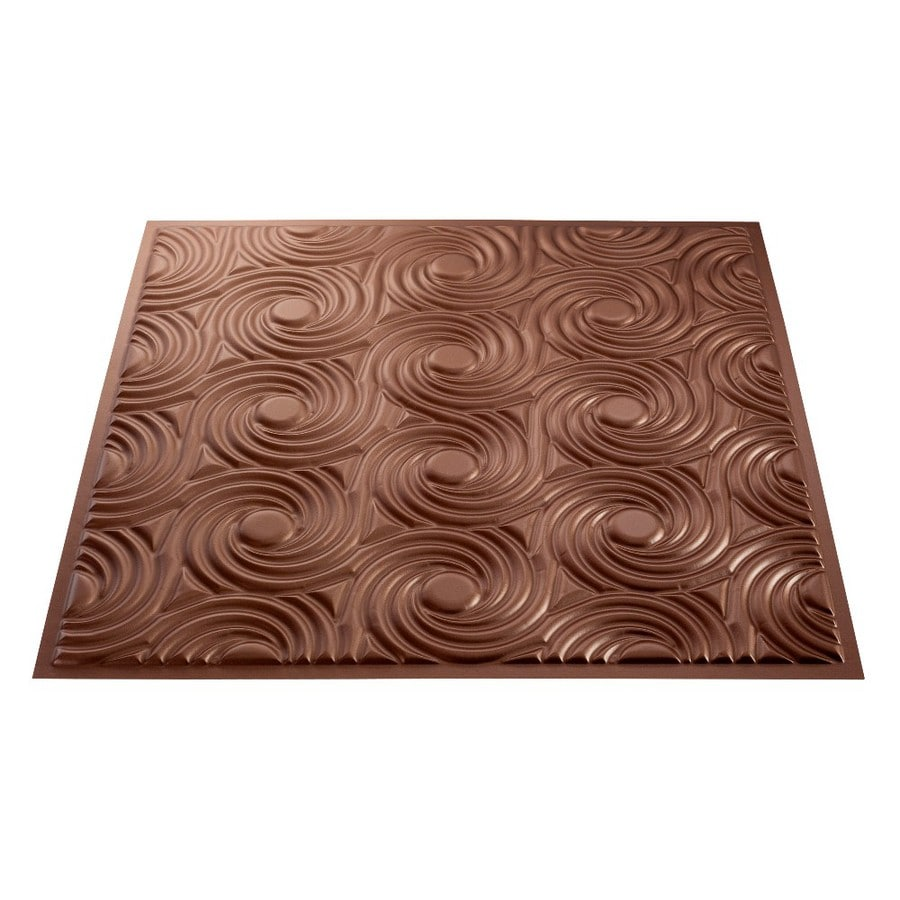 Fasade Argent Copper Faux Tin Surface-Mount Ceiling Tiles (Common: 24-in x 24-in; Actual: 23-in x 23-in)