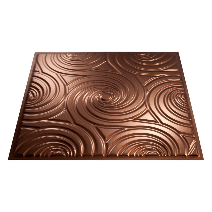 Fasade Oil-Rubbed Bronze Faux Tin Surface-Mount Ceiling Tiles (Common: 24-in x 24-in; Actual: 23-in x 23-in)