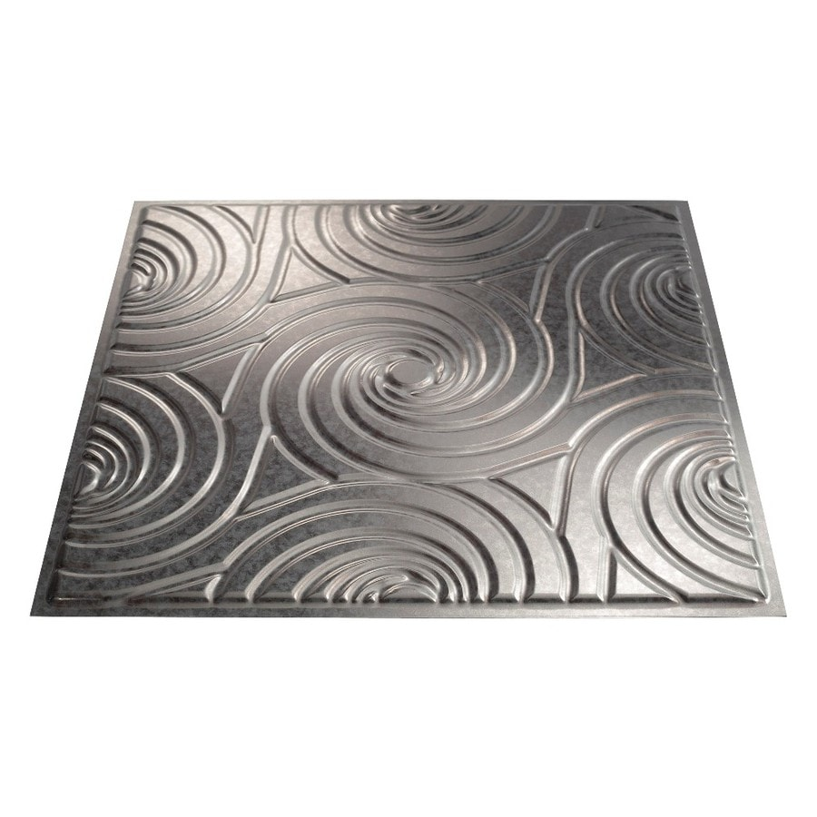 Fasade Galvanized Steel Faux Tin Surface-Mount Ceiling Tiles (Common: 24-in x 24-in; Actual: 23-in x 23-in)