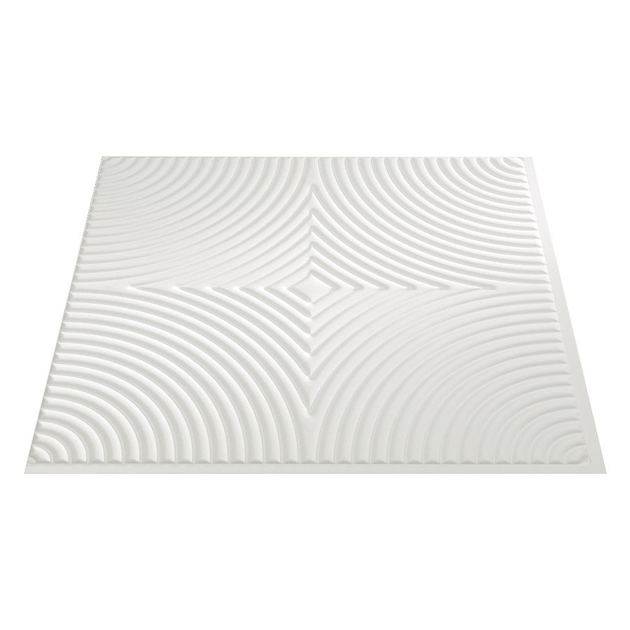 Fasade Matte White Faux Tin Surface-Mount Ceiling Tiles (Common: 24-in x 24-in; Actual: 23-in x 23-in)
