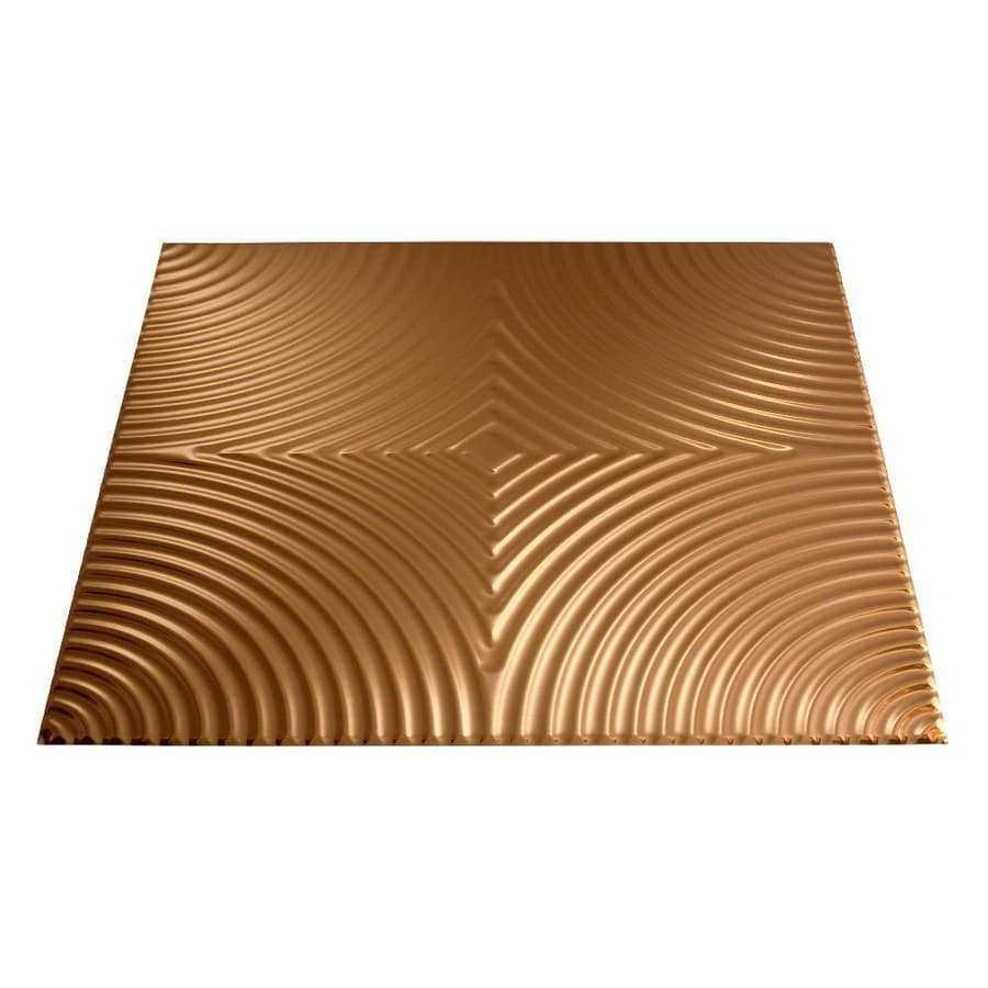 Fasade Polished Copper Faux Tin Surface-Mount Ceiling Tiles (Common: 24-in x 24-in; Actual: 23-in x 23-in)