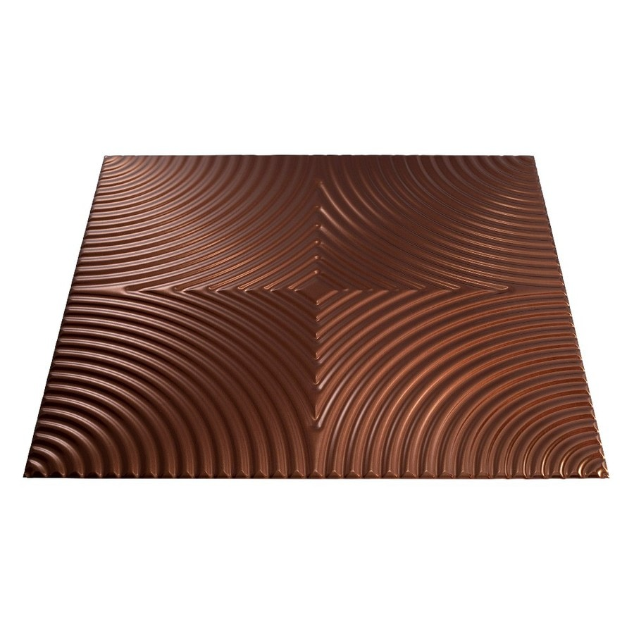 Fasade (Common: 24-in X 24-in; Actual: 23-in x 23-in) Echo Oil-Rubbed Bronze Faux Tin Surface-mount Tile Ceiling Tiles