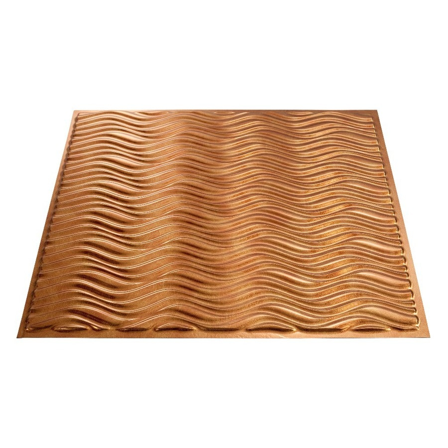 Shop Fasade Antique Bronze Faux Tin Surface-Mount Ceiling Tiles (Common: 24-in x 24-in; Actual ...