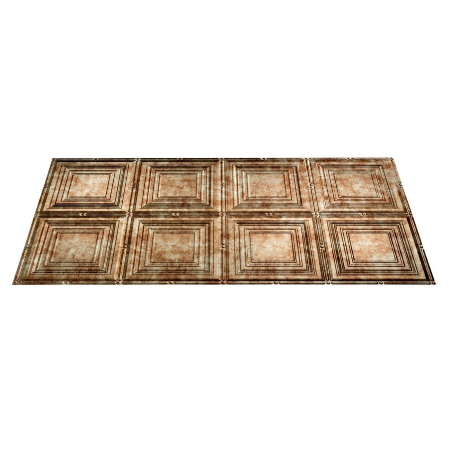 Fasade Bermuda Bronze Faux Tin Surface-Mount Ceiling Tiles (Common: 48-in x 24-in; Actual: 48.375-in x 24.375-in)