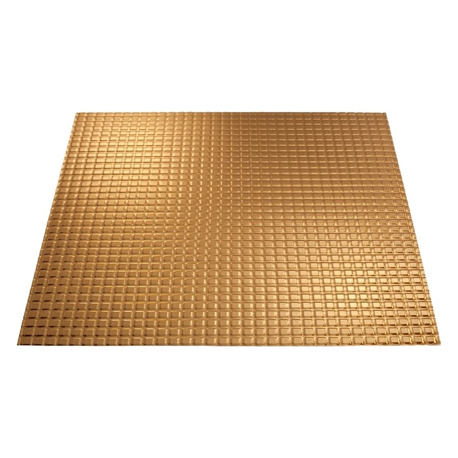 Fasade Polished Copper Faux Tin 15/16-in Drop Ceiling Tiles (Common: 24-in x 24-in; Actual: 23.75-in x 23.75-in)