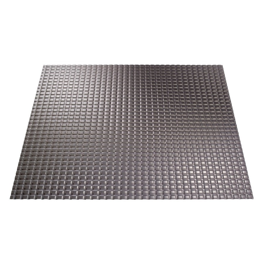 Fasade Brushed Nickel Faux Tin 15/16-in Drop Ceiling Tiles (Common: 24-in x 24-in; Actual: 23.75-in x 23.75-in)