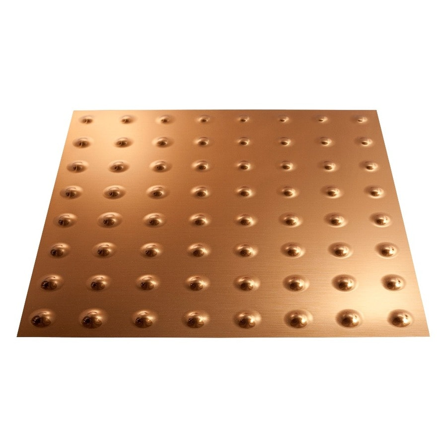 Shop Fasade Polished Copper Faux Tin 15/16-in Drop Ceiling Tiles (Common: 24-in x 24-in; Actual ...