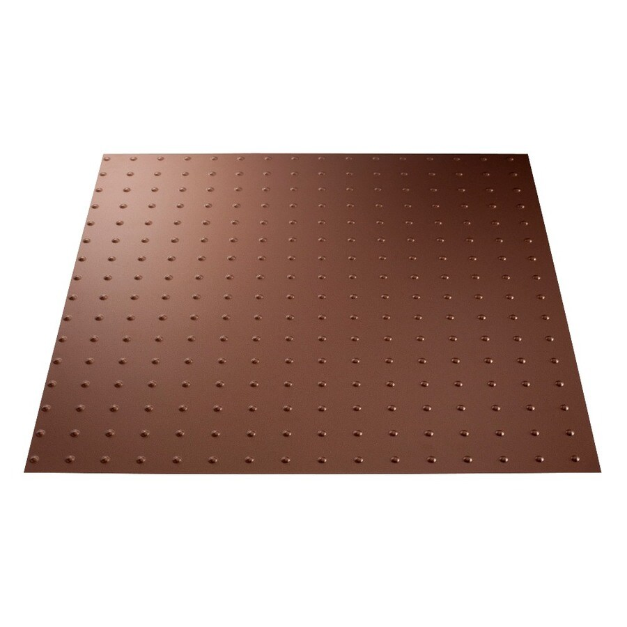 Fasade Argent Copper Faux Tin 15/16-in Drop Ceiling Tiles (Common: 24-in x 24-in; Actual: 23.75-in x 23.75-in)