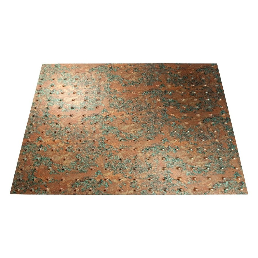 Fasade Copper Fantasy Faux Tin 15/16-in Drop Ceiling Tiles (Common: 24-in x 24-in; Actual: 23.75-in x 23.75-in)