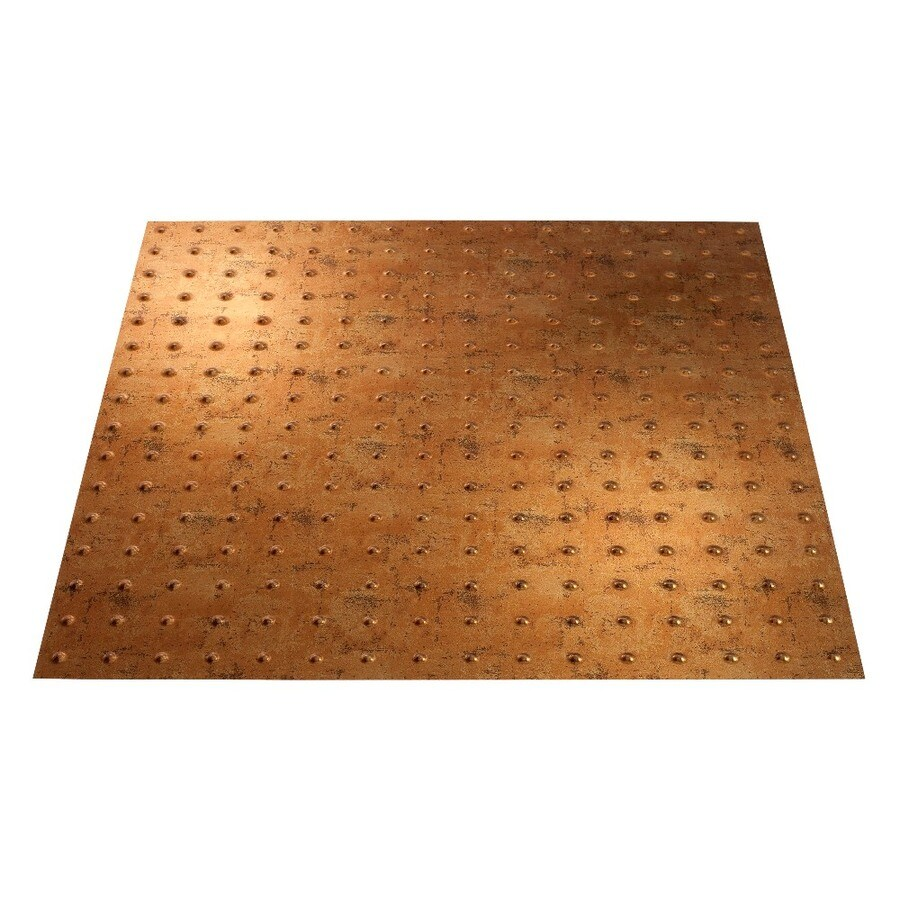 Fasade Muted Gold Faux Tin 15/16-in Drop Ceiling Tiles (Common: 24-in x 24-in; Actual: 23.75-in x 23.75-in)