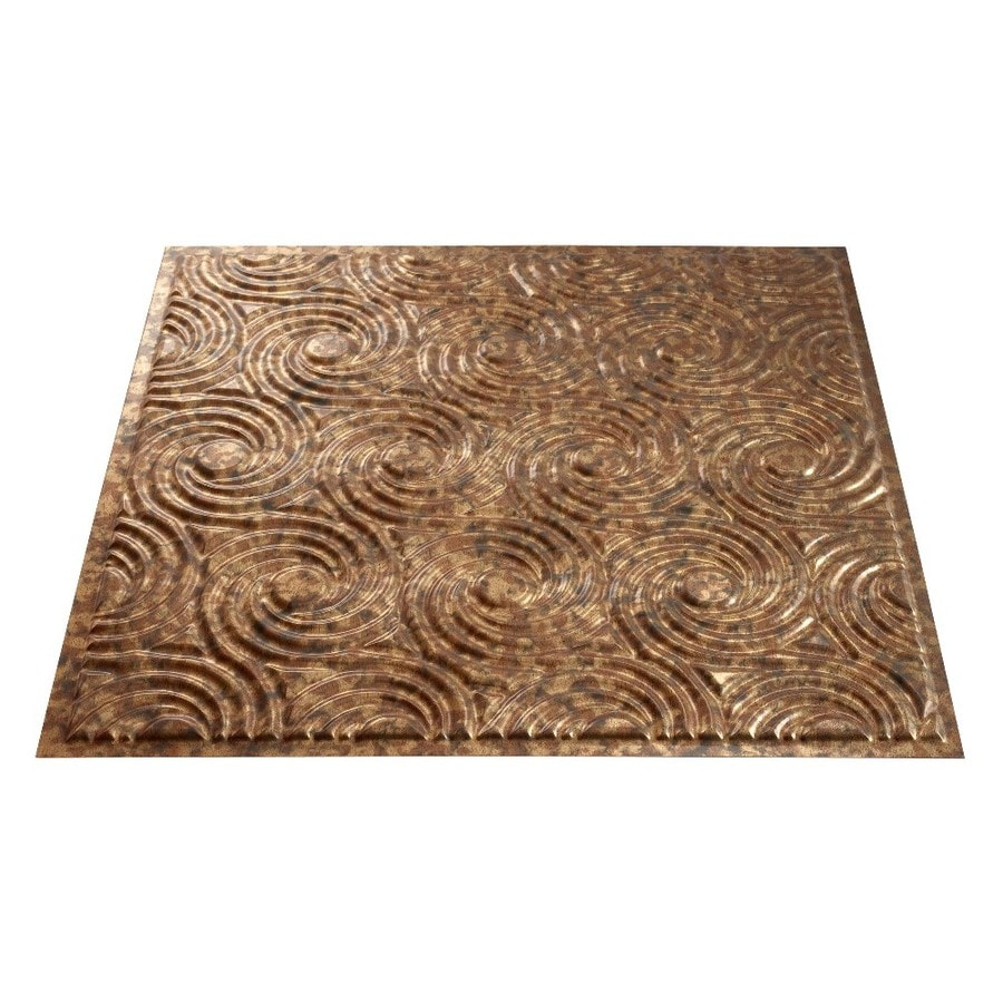 Fasade Cracked Copper Faux Tin 15/16-in Drop Ceiling Tiles (Common: 24-in x 24-in; Actual: 23.75-in x 23.75-in)