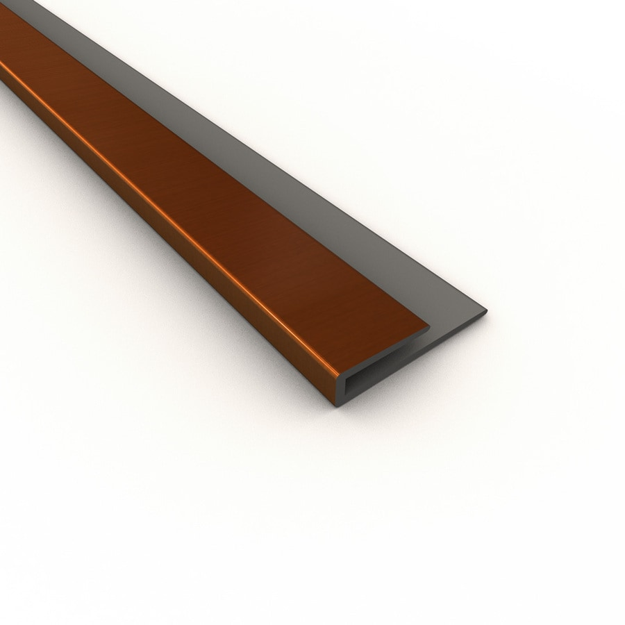 shop fasade 0 75 in x 18 in oil rubbed bronze thermoplastic