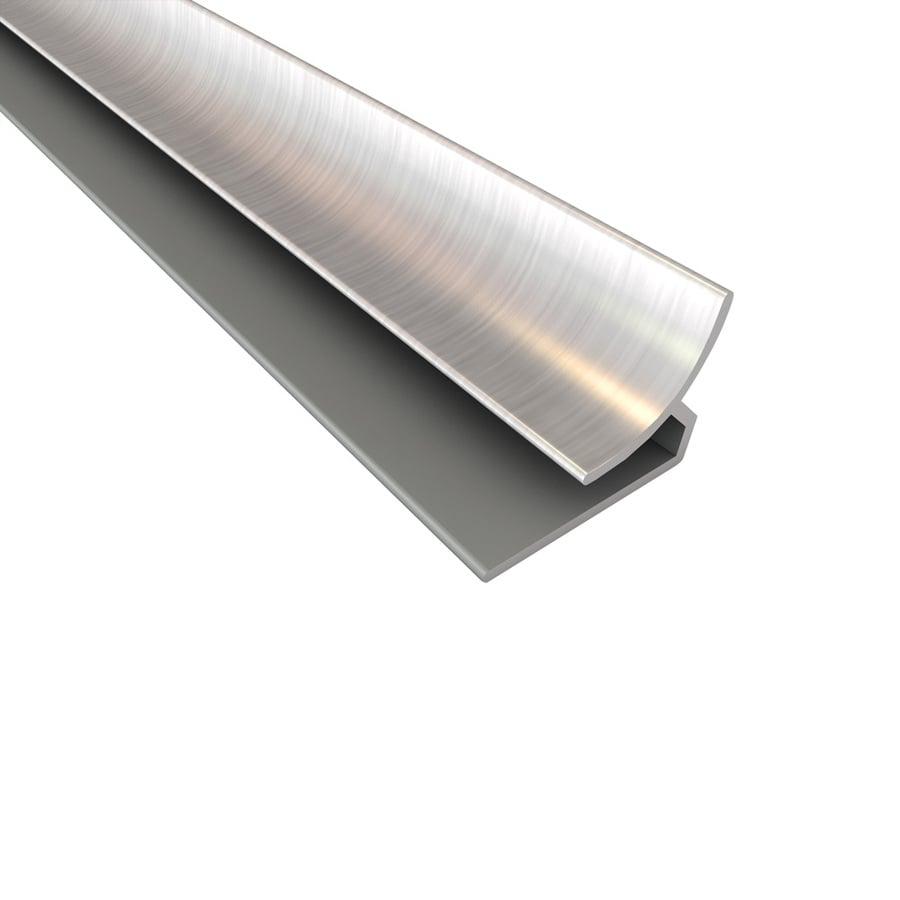 Fasade 0.75-in x 18-in Brushed Nickel Plastic Multipurpose Backsplash