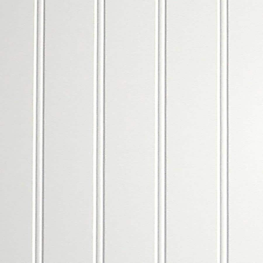 FashionWall 47.75-in x 7.98-ft Beaded White Hardboard Wall Panel