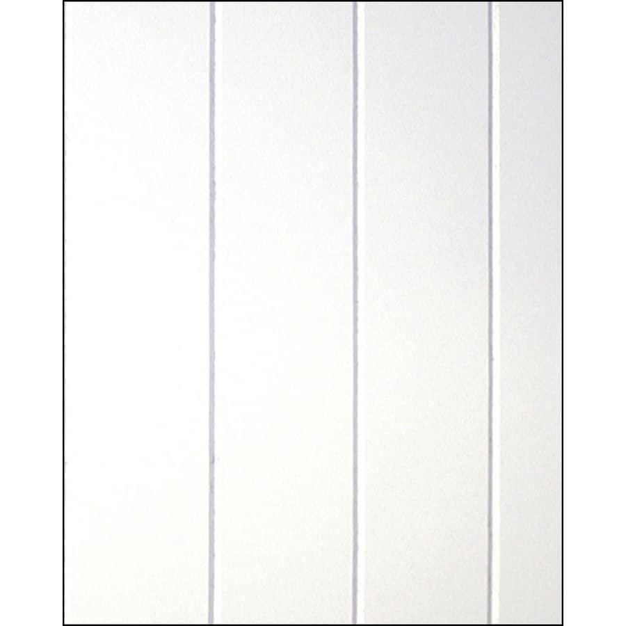 FashionWall 47.75-in x 7.98-ft V-Groove White Hardboard Wall Panel