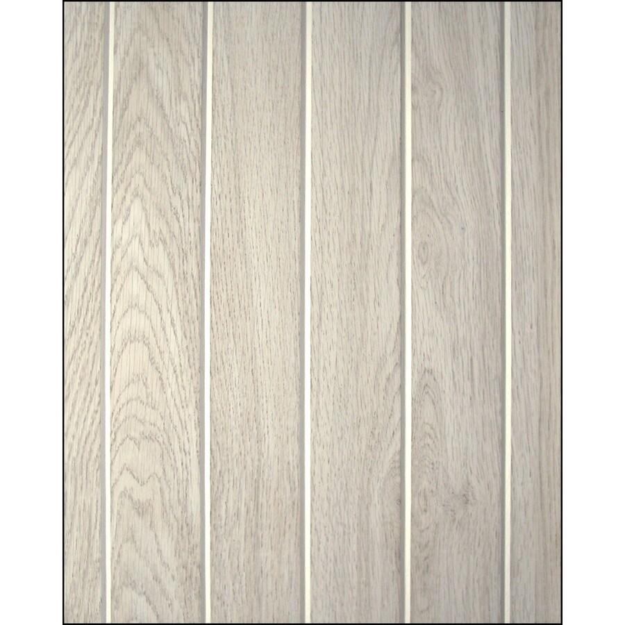 FashionWall 47.75-in x 7.98-ft Single Bead Silver Hardboard Wall Panel