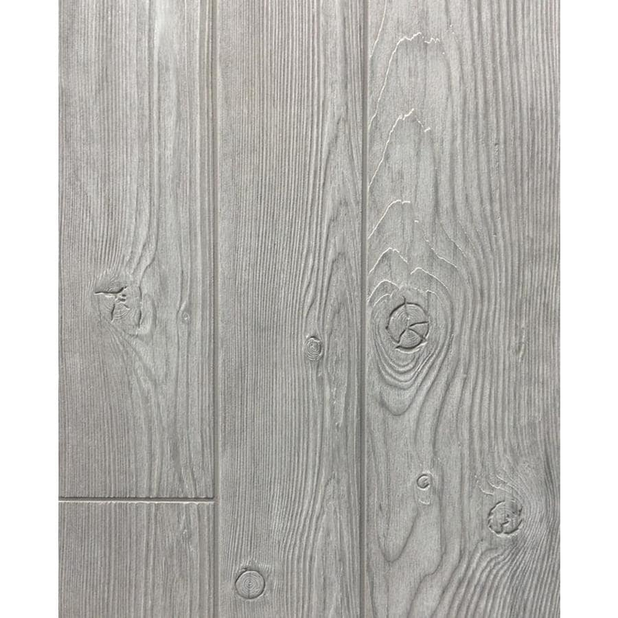 Shop 47 75 In X 7 98 Ft Embossed Gray Homesteader Hardboard Wall