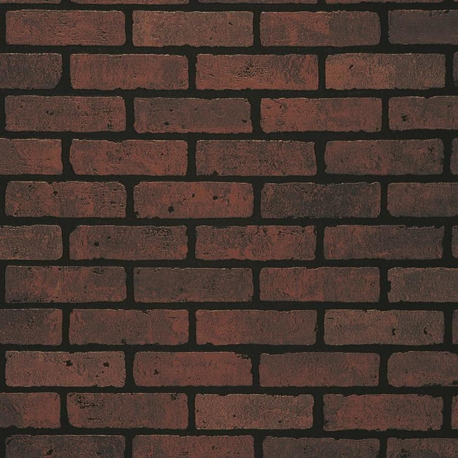 47.75 In X 7.98 Ft Embossed Red Brick Hardboard Wall Panel