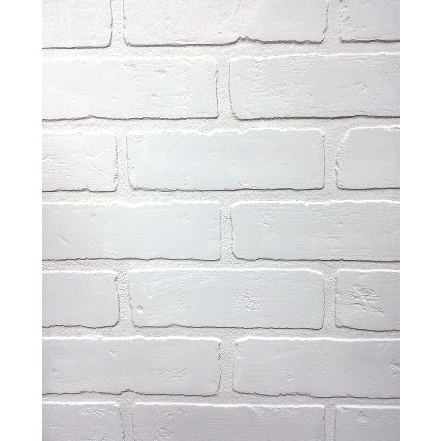 FashionWall 47.75-in x 7.98-ft Embossed Paintable Brick Hardboard Wall Panel