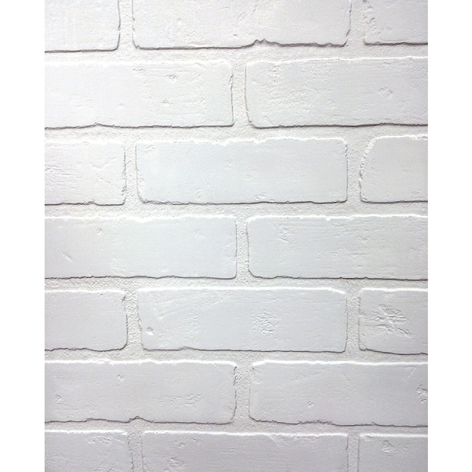 47 75 In X 7 98 Ft Embossed Paintable Brick Hardboard Wall Panel In The Wall Panels Department At Lowes Com