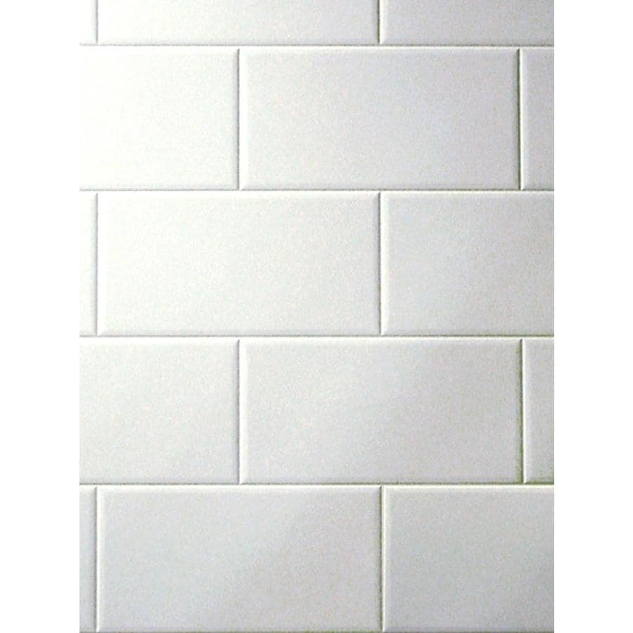 3 98 Ft X 7 White Tile Board
