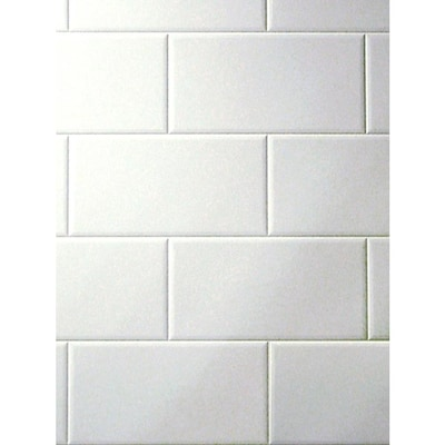 3 98 Ft X 7 White Tile Board At Lowes