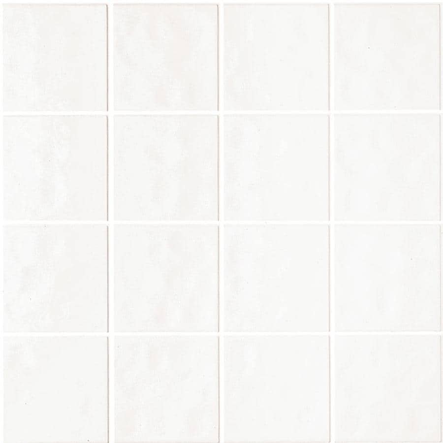 Shop 3.98-ft x 7.98-ft White Ceramic Style Tile Board at Lowes.com
