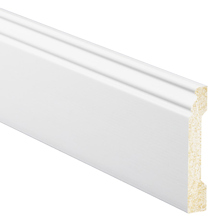 9/16-in x 3-15/16-in x 8-ft White Polystyrene Base Moulding