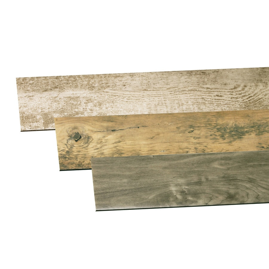 Inteplast Group Building Products Accent Planks Reclaimed 4.5-in x 4-ft Multicolor Kit PVC Wall Plank
